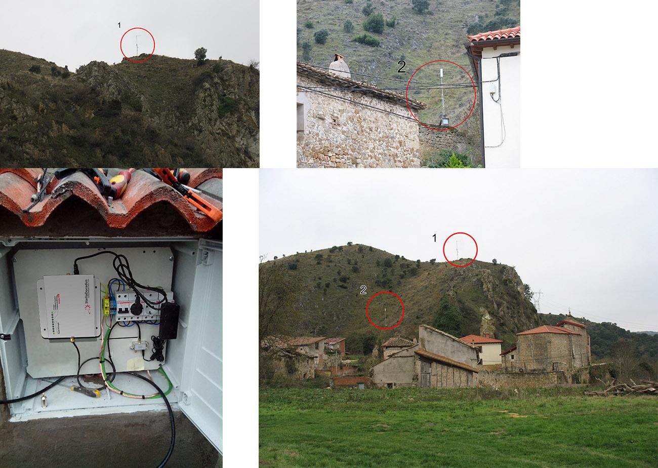 collage of spanish finca