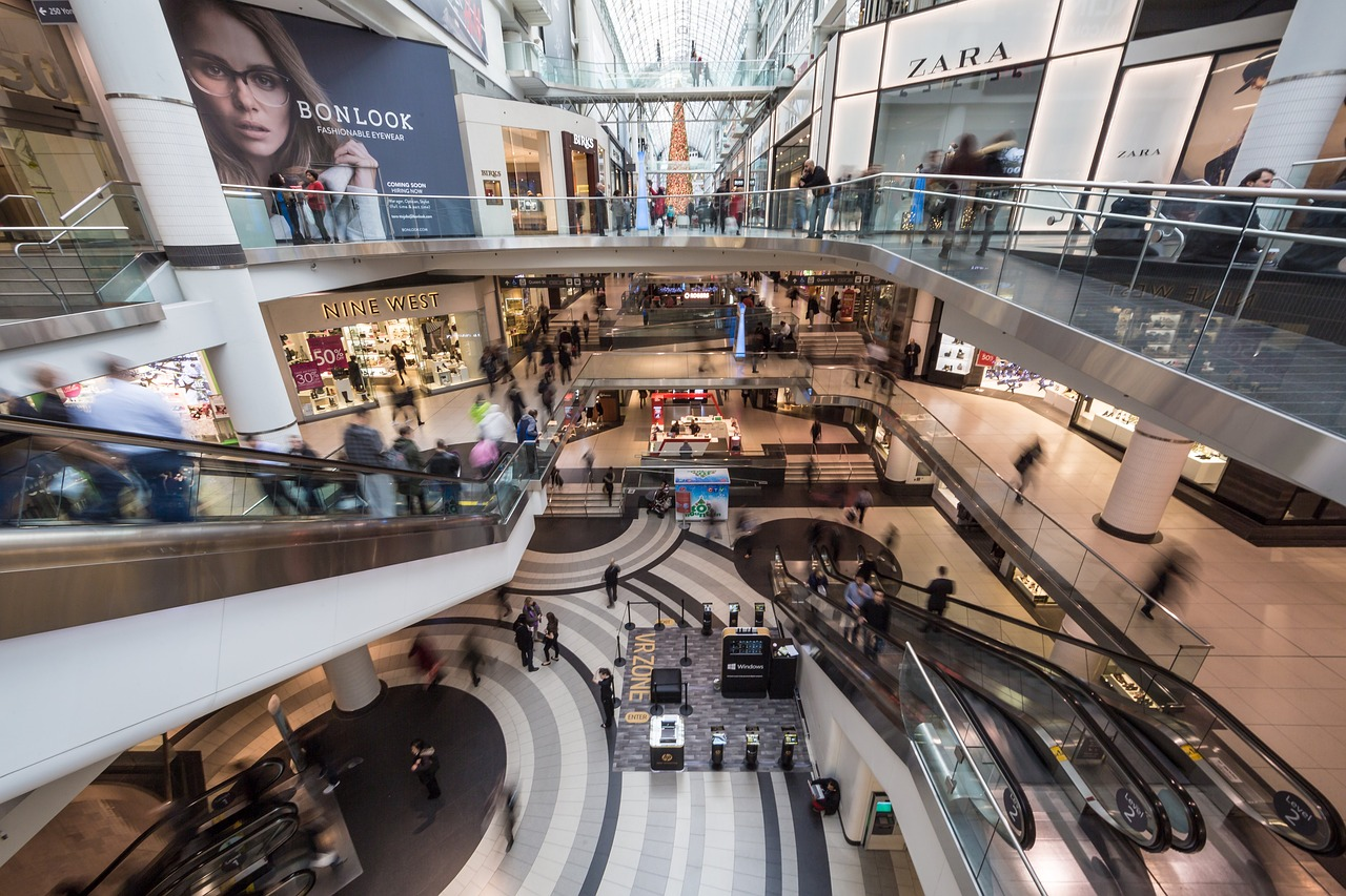 Lack of coverage within mall